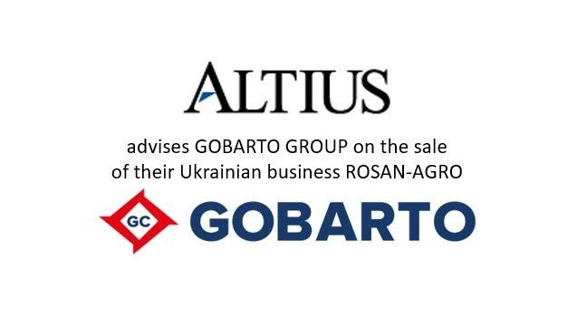 Altius Capital acted as exclusive adviser to Gobarto Group on the sale of their Ukrainian business Rosan-Agro