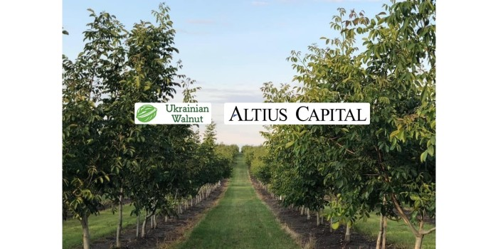 ALTIUS CAPITAL acted as exclusive adviser to UKRAINIAN WALNUT LLC on raising long-term debt financing of $15mln