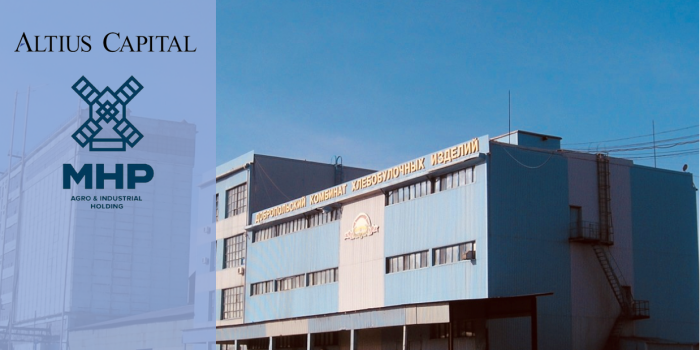 ALTIUS CAPITAL ACTED AS AN ADVISOR OF MHP COMPANY IN THE PROCESS OF SELLING DOBROPILSKYY KOMBINAT KHLIBOPRODUKTIV (DKHP) TO T&T TRADE COMPANY